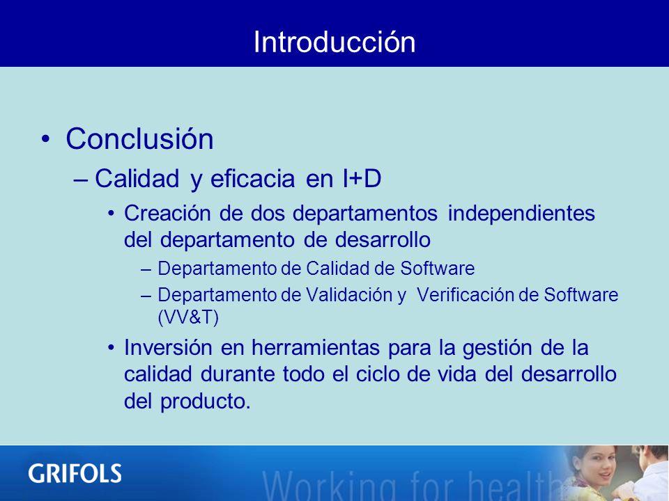 Introducción Conclusión Calidad y eficacia en I+D