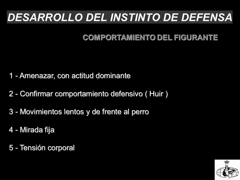 DESARROLLO DEL INSTINTO DE DEFENSA COMPORTAMIENTO DEL FIGURANTE