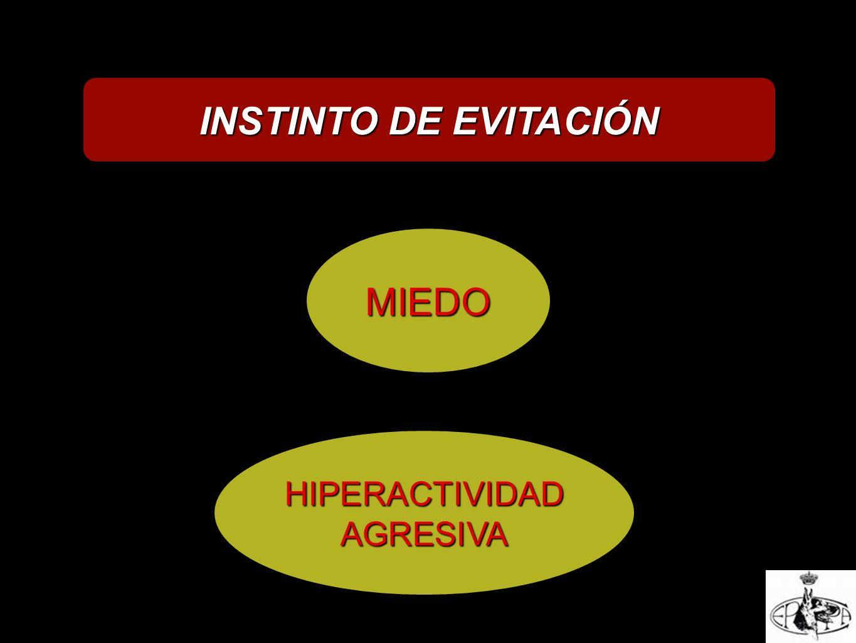 INSTINTO DE EVITACIÓN MIEDO HIPERACTIVIDAD AGRESIVA