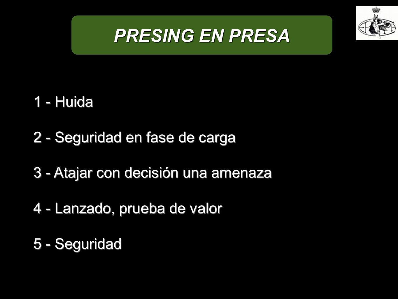PRESING EN PRESA 1 - Huida 2 - Seguridad en fase de carga