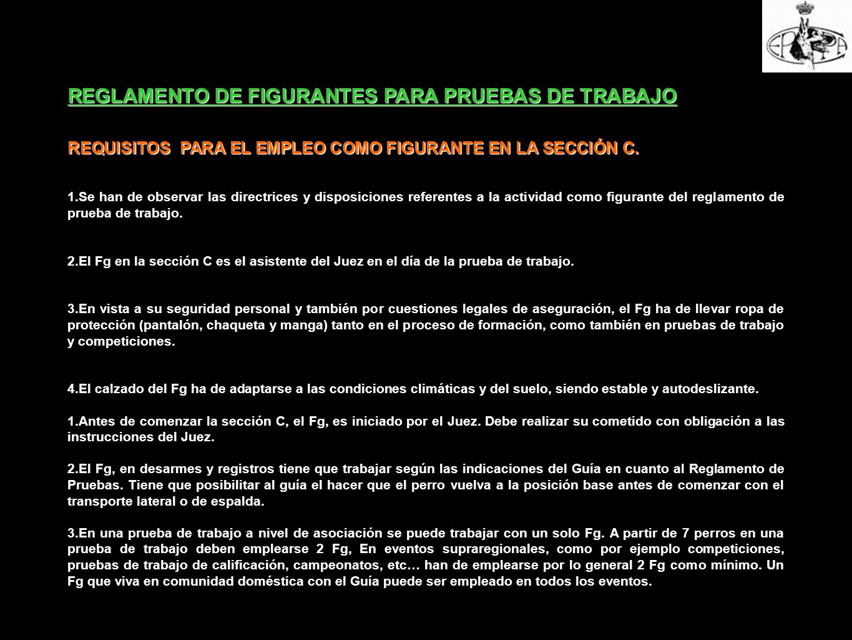 REGLAMENTO DE FIGURANTES PARA PRUEBAS DE TRABAJO