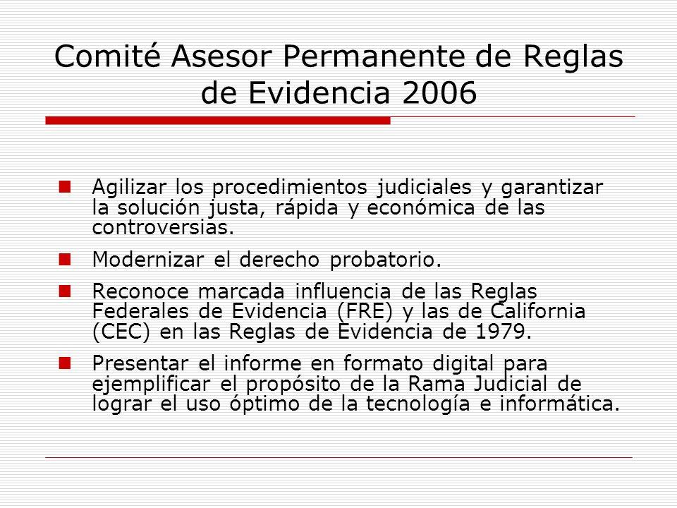 Comité Asesor Permanente de Reglas de Evidencia 2006