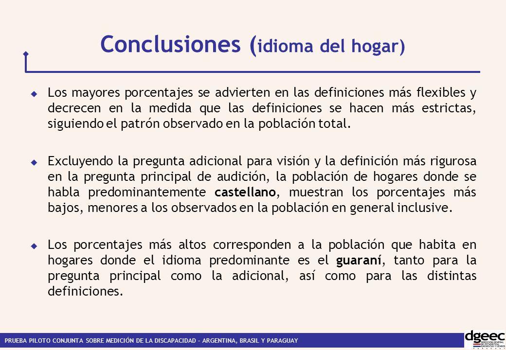 Conclusiones (idioma del hogar)