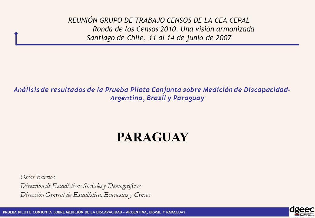 REUNIÓN GRUPO DE TRABAJO CENSOS DE LA CEA CEPAL