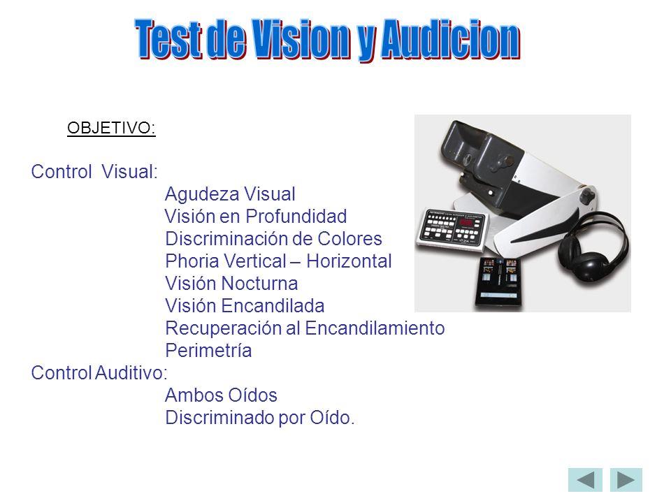 Test de Vision y Audicion