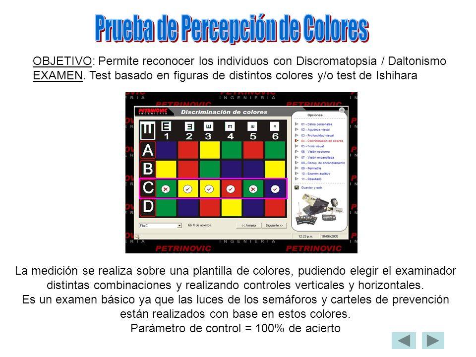 Prueba de Percepción de Colores