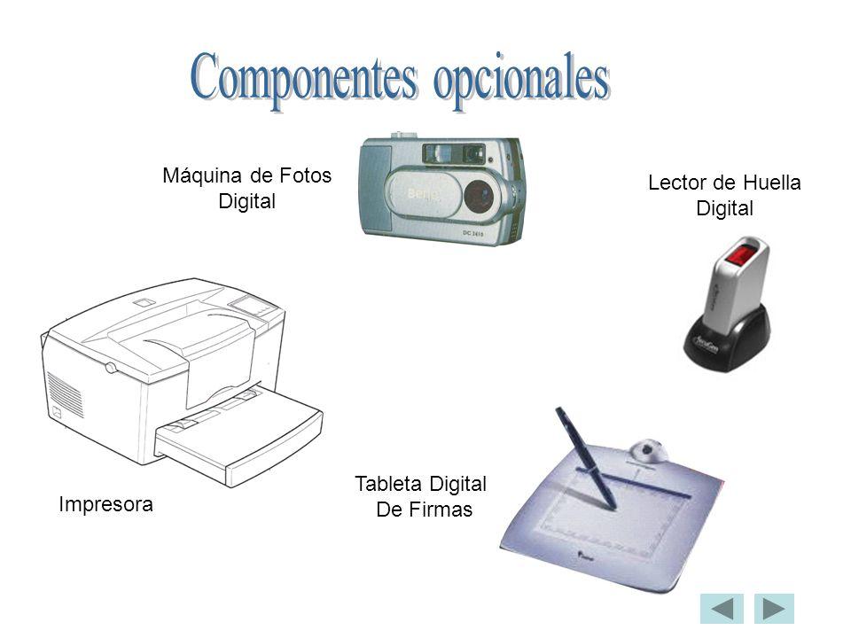 Componentes opcionales