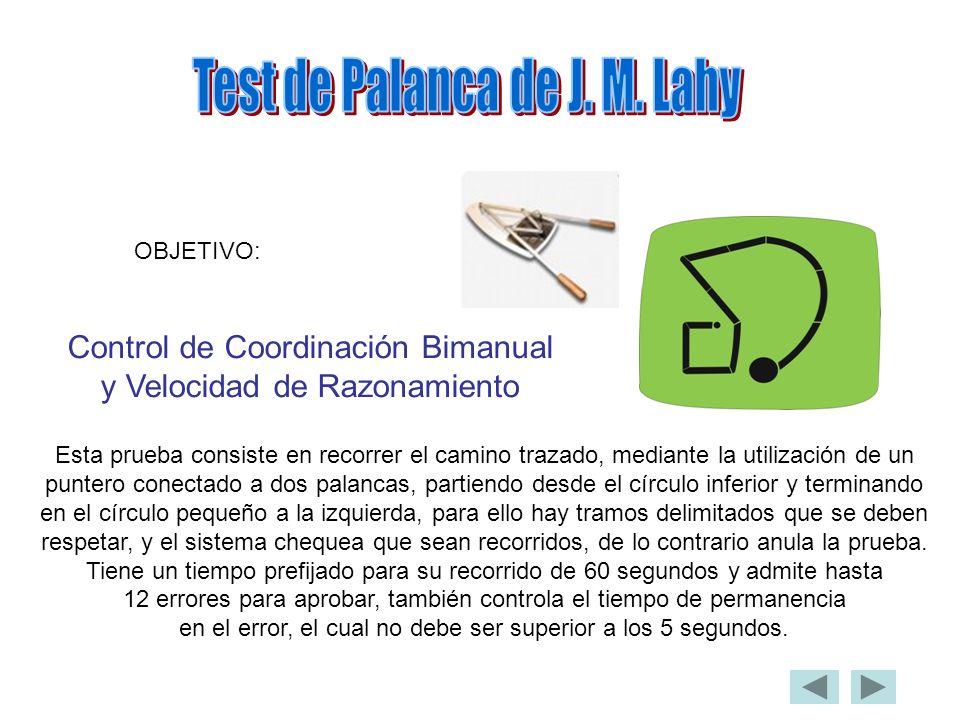 Test de Palanca de J. M. Lahy