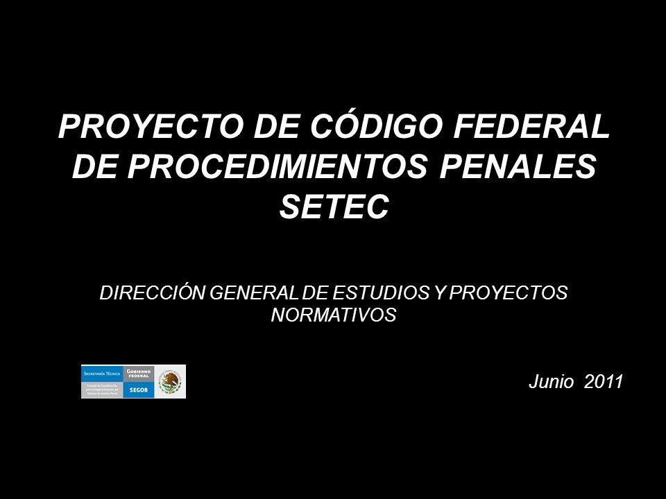 PROYECTO DE CÓDIGO FEDERAL DE PROCEDIMIENTOS PENALES SETEC