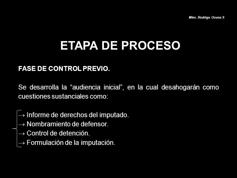ETAPA DE PROCESO FASE DE CONTROL PREVIO.