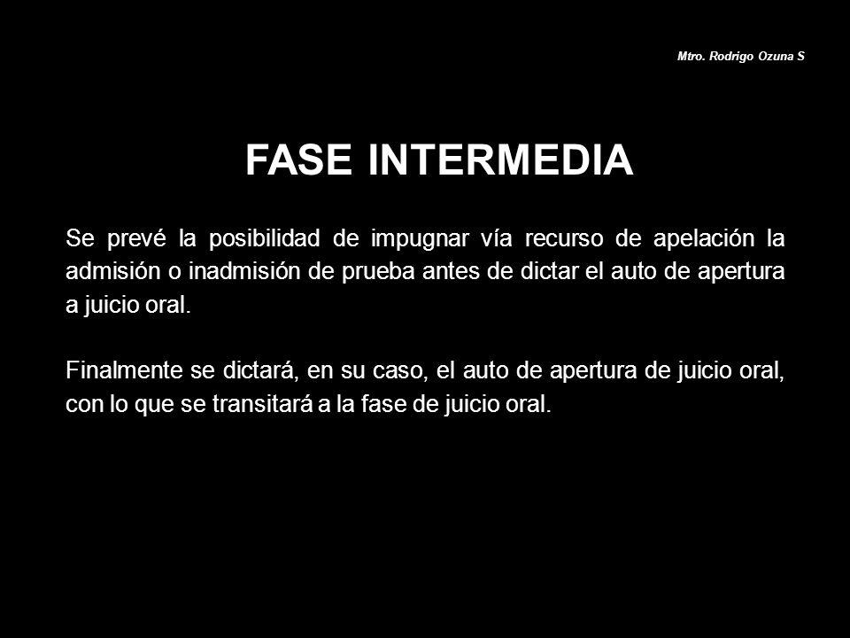 Mtro. Rodrigo Ozuna S FASE INTERMEDIA.