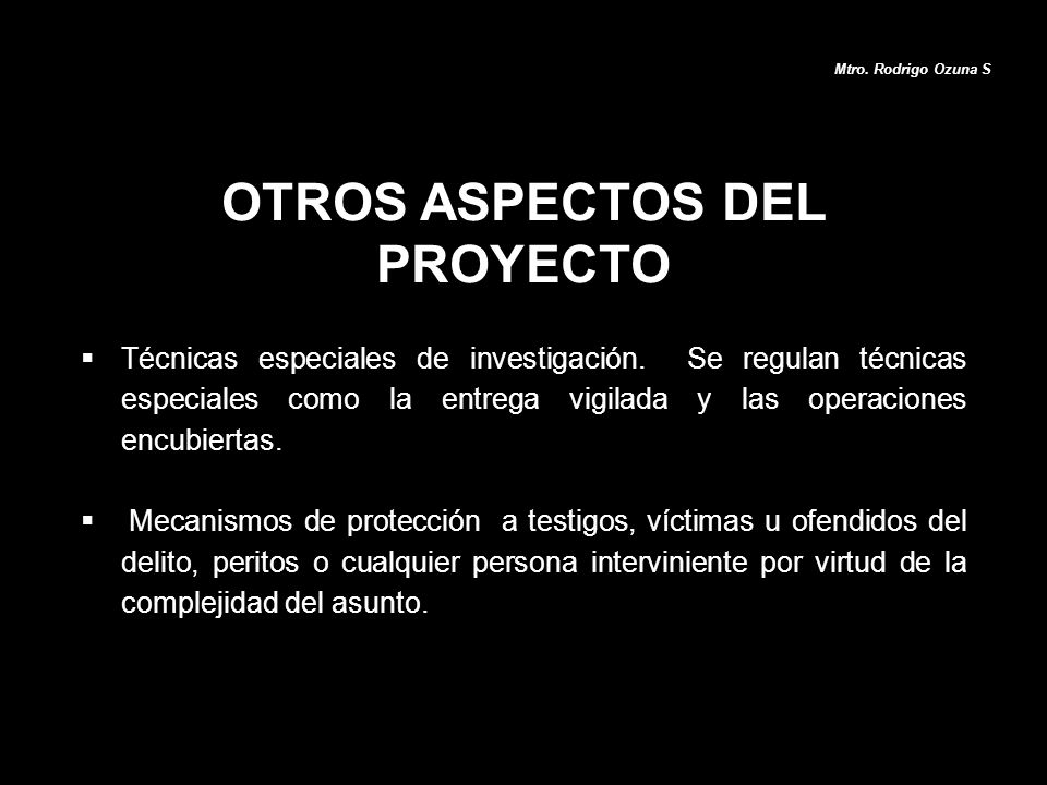 OTROS ASPECTOS DEL PROYECTO