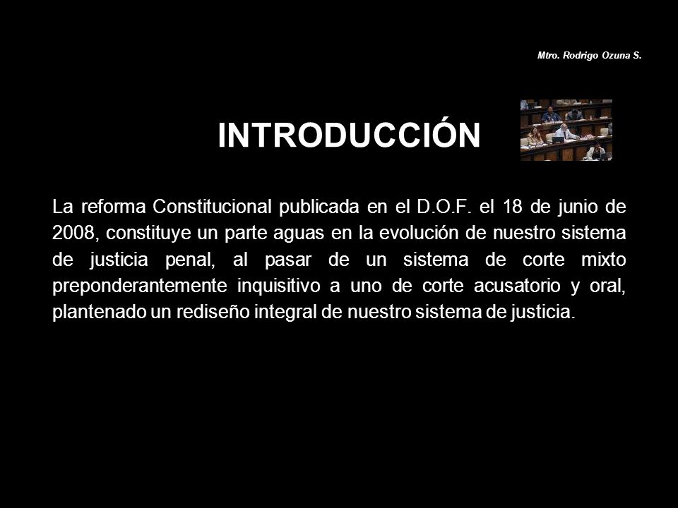 Mtro. Rodrigo Ozuna S. INTRODUCCIÓN.
