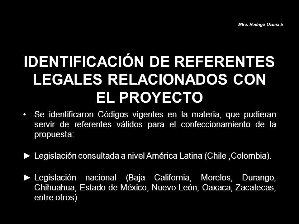 IDENTIFICACIÓN DE REFERENTES LEGALES RELACIONADOS CON EL PROYECTO