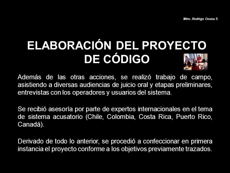 ELABORACIÓN DEL PROYECTO DE CÓDIGO
