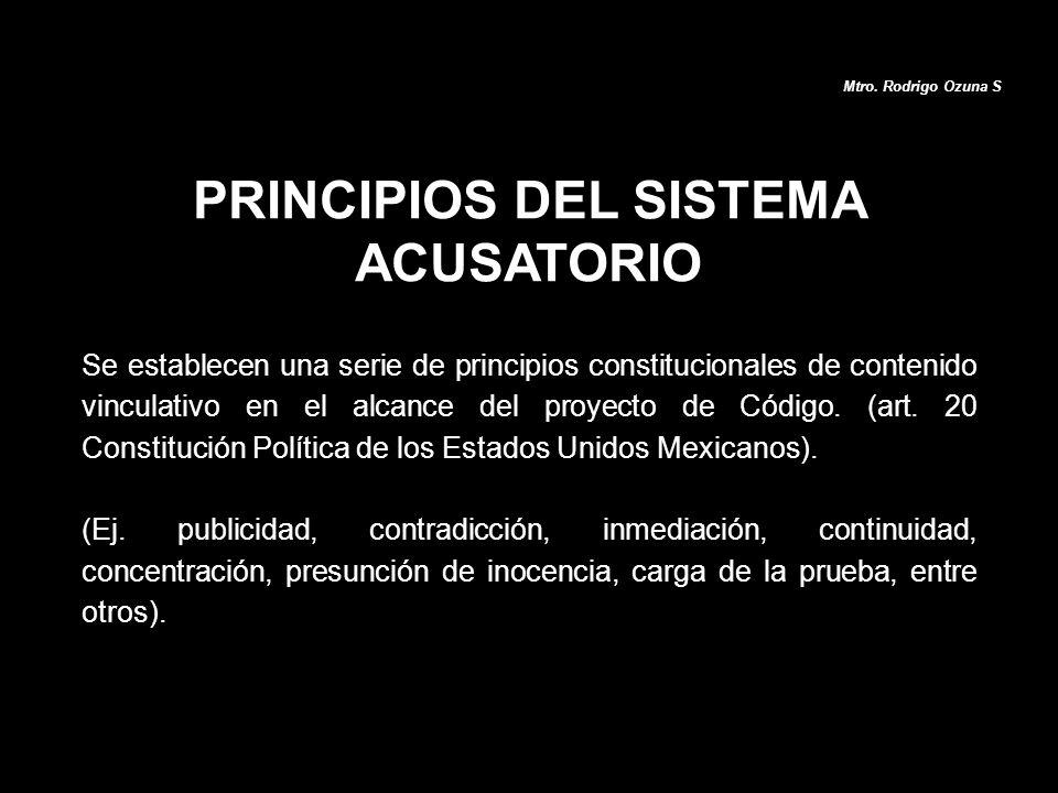 PRINCIPIOS DEL SISTEMA ACUSATORIO