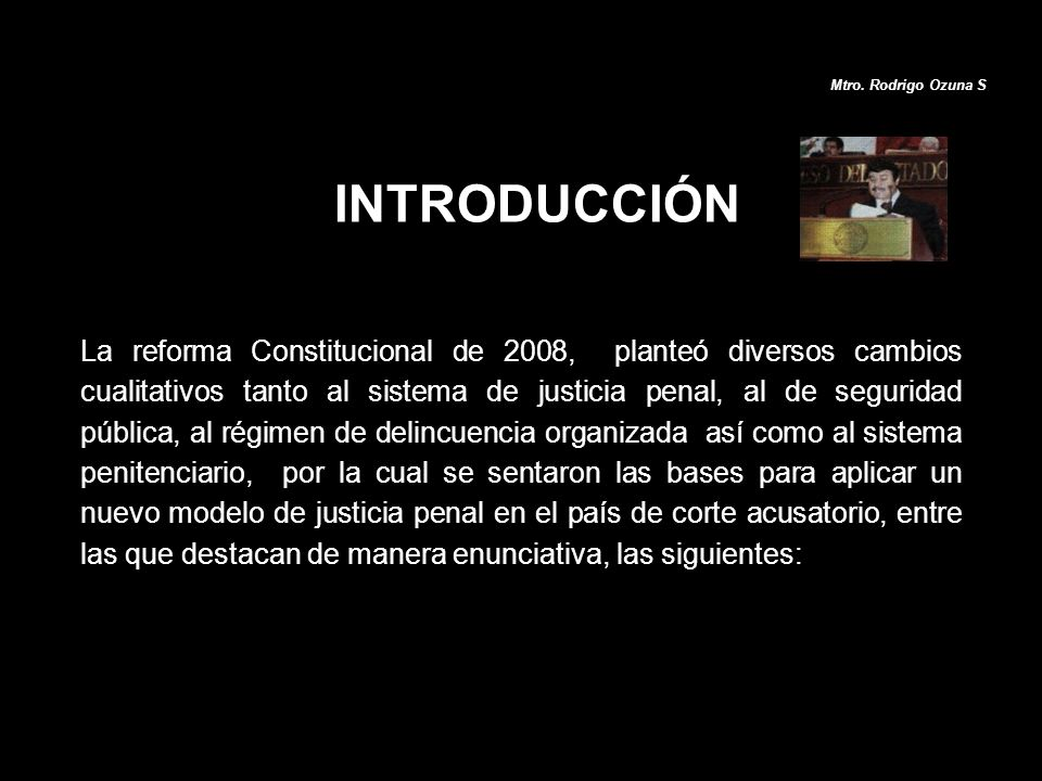 Mtro. Rodrigo Ozuna S INTRODUCCIÓN.
