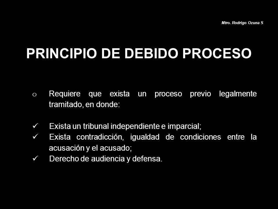 PRINCIPIO DE DEBIDO PROCESO
