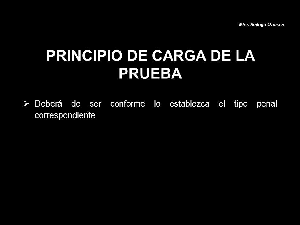 PRINCIPIO DE CARGA DE LA PRUEBA