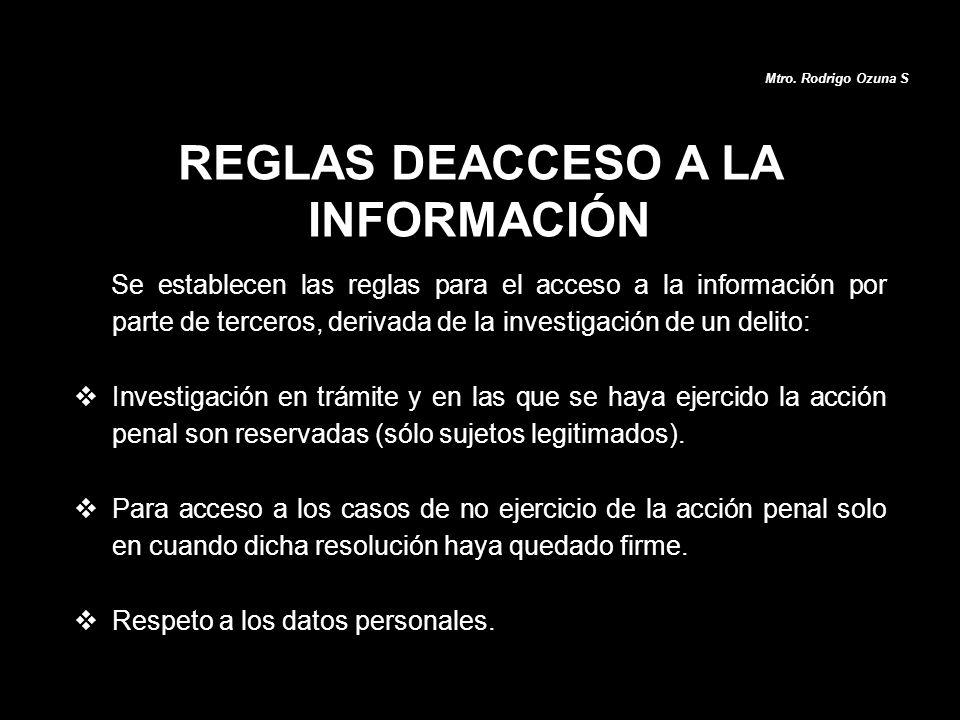 REGLAS DEACCESO A LA INFORMACIÓN