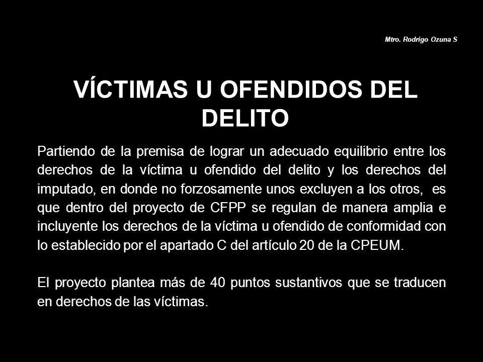 VÍCTIMAS U OFENDIDOS DEL DELITO