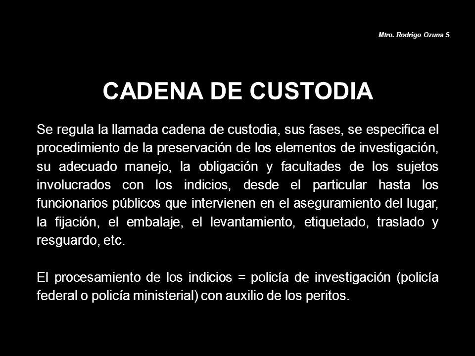 Mtro. Rodrigo Ozuna S CADENA DE CUSTODIA.