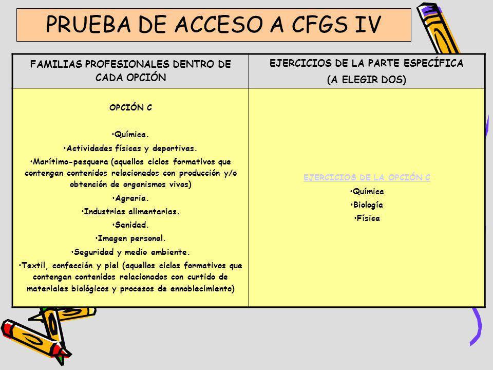 PRUEBA DE ACCESO A CFGS IV