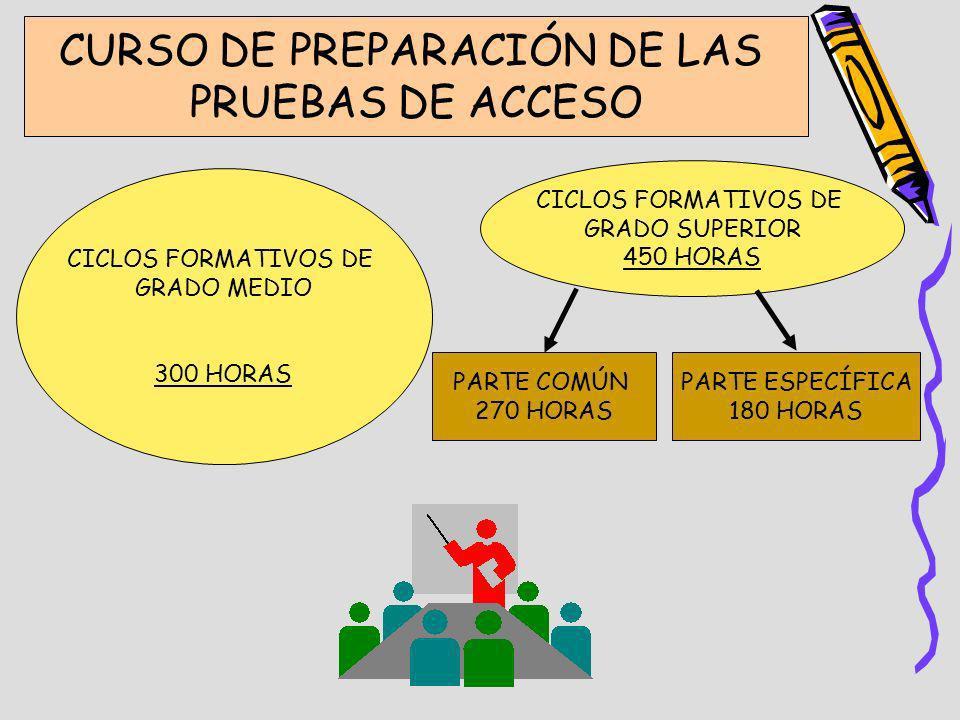 CURSO DE PREPARACIÓN DE LAS