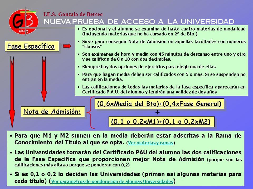 + Fase Específica (0,6xMedia del Bto)+(0,4xFase General)