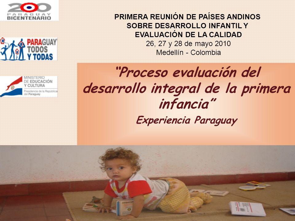 Proceso evaluación del desarrollo integral de la primera infancia