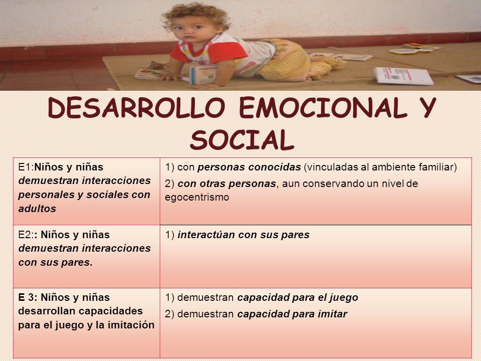 DESARROLLO EMOCIONAL Y SOCIAL