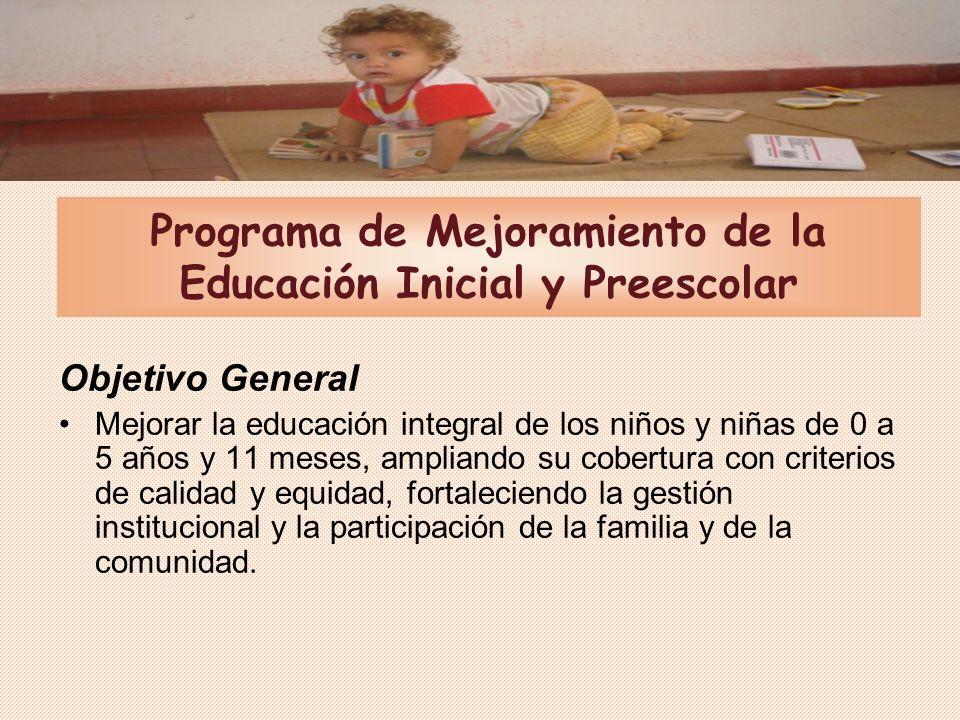 Programa de Mejoramiento de la Educación Inicial y Preescolar