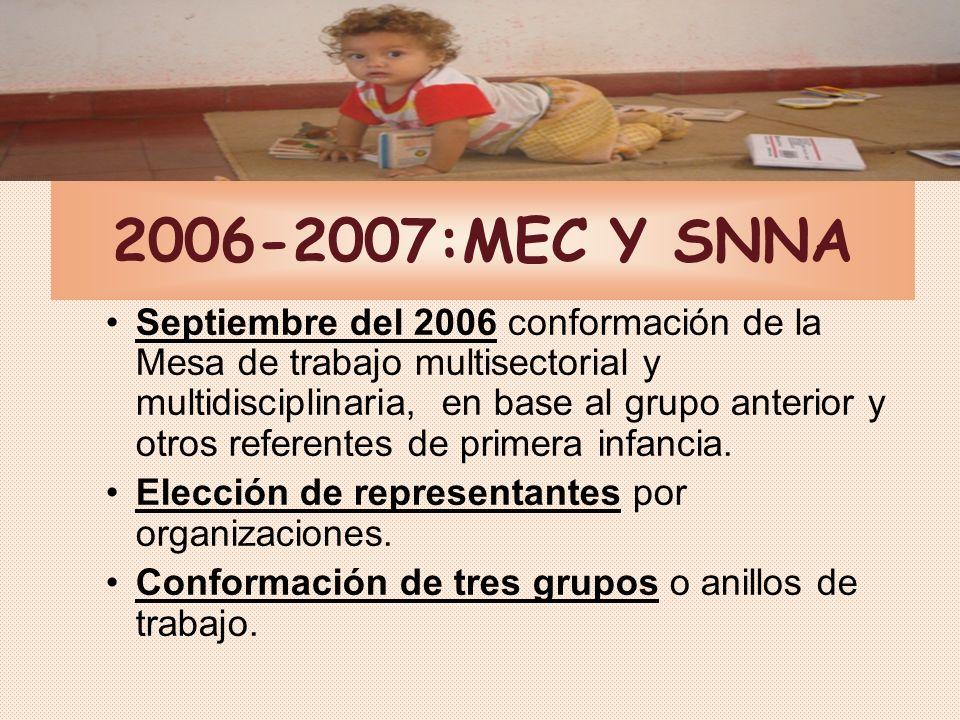 2006-2007:MEC Y SNNA