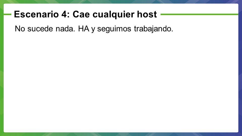 Escenario 4: Cae cualquier host