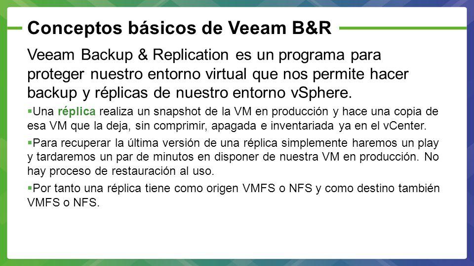 Conceptos básicos de Veeam B&R