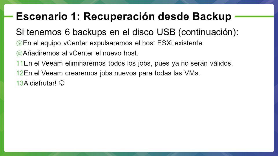 Escenario 1: Recuperación desde Backup