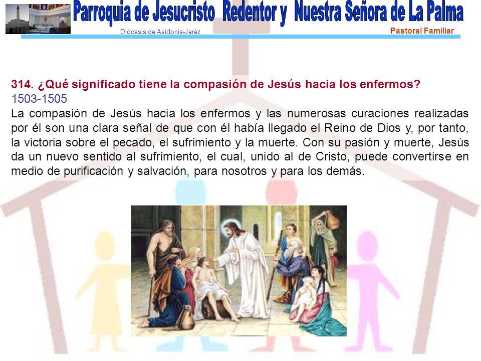 314. ¿Qué significado tiene la compasión de Jesús hacia los enfermos