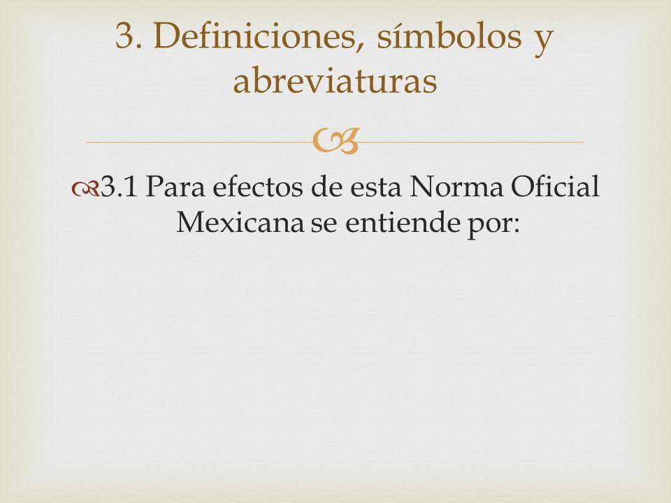 3. Definiciones, símbolos y abreviaturas