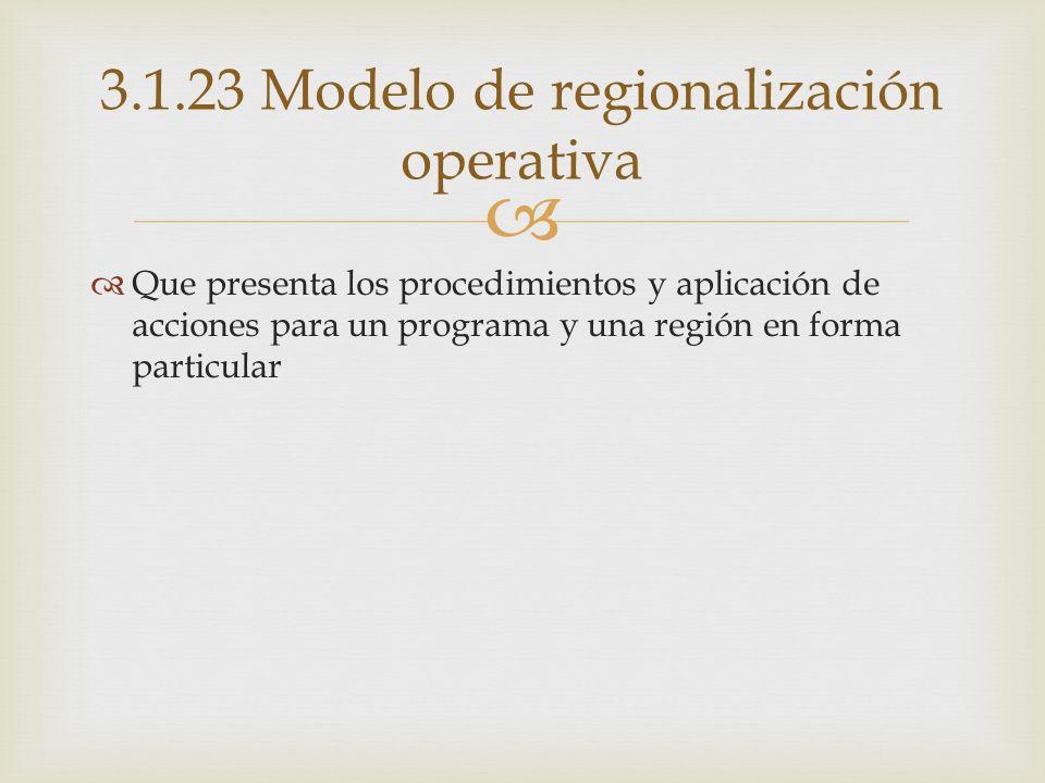 3.1.23 Modelo de regionalización operativa