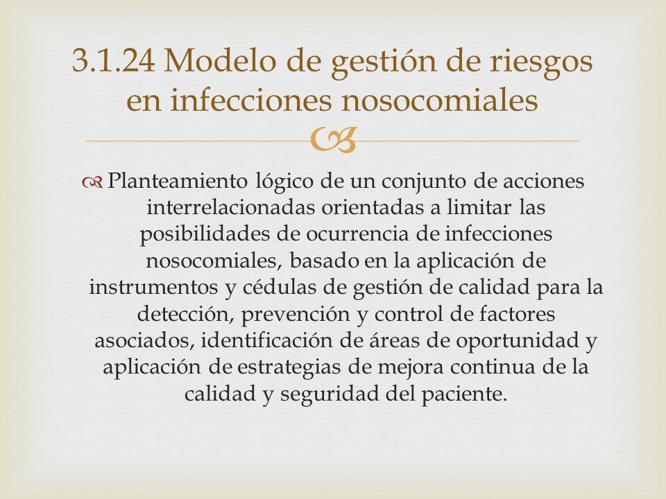 3.1.24 Modelo de gestión de riesgos en infecciones nosocomiales