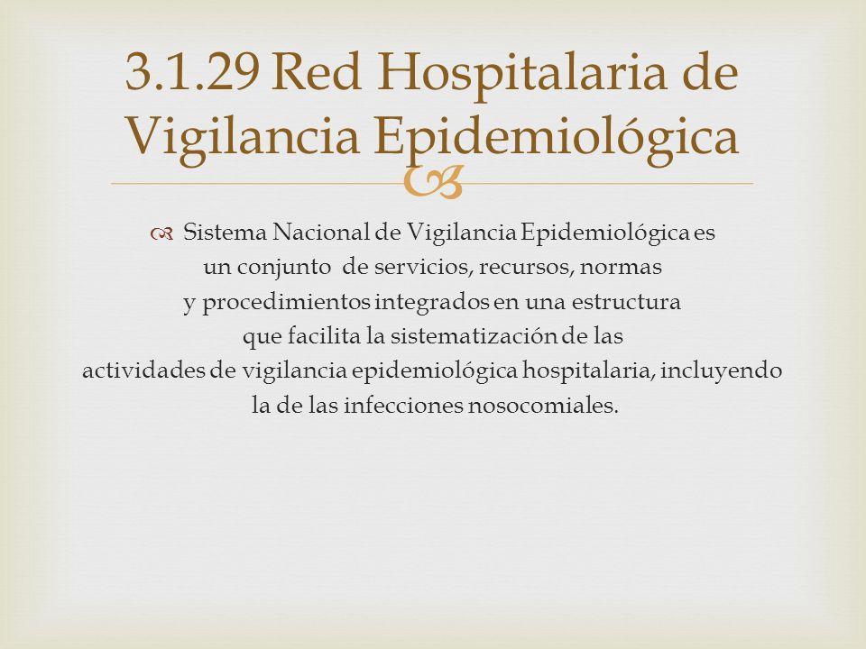 3.1.29 Red Hospitalaria de Vigilancia Epidemiológica