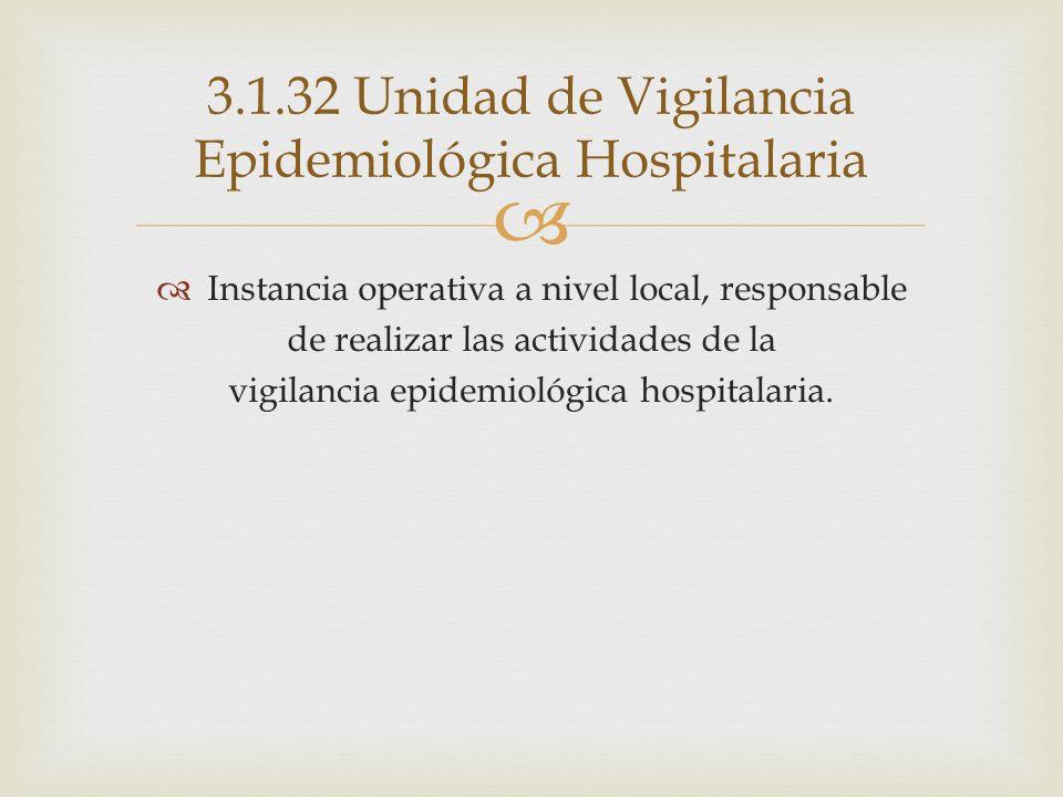 3.1.32 Unidad de Vigilancia Epidemiológica Hospitalaria