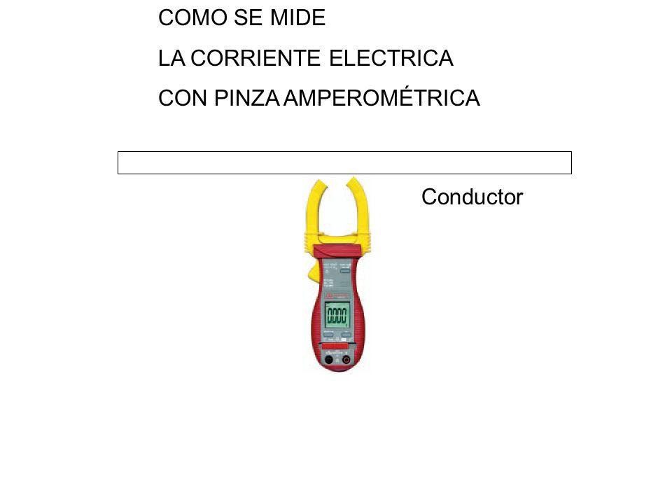 COMO SE MIDE LA CORRIENTE ELECTRICA CON PINZA AMPEROMÉTRICA Conductor