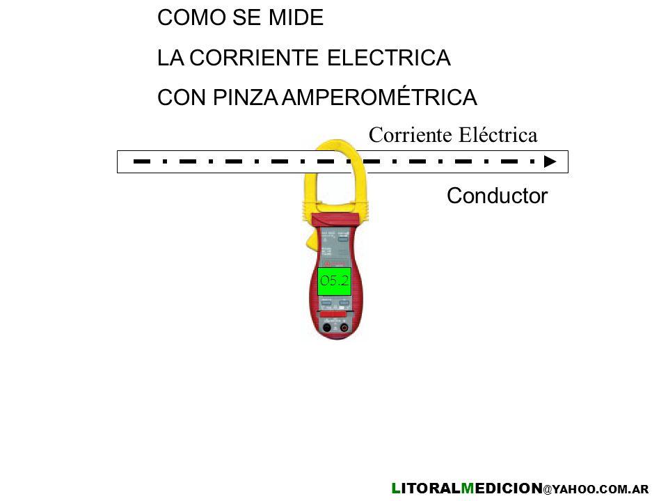 LA CORRIENTE ELECTRICA CON PINZA AMPEROMÉTRICA