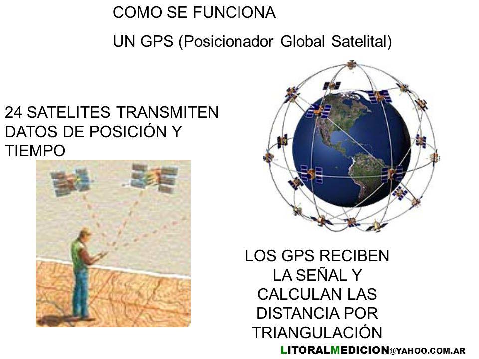 LOS GPS RECIBEN LA SEÑAL Y CALCULAN LAS DISTANCIA POR TRIANGULACIÓN