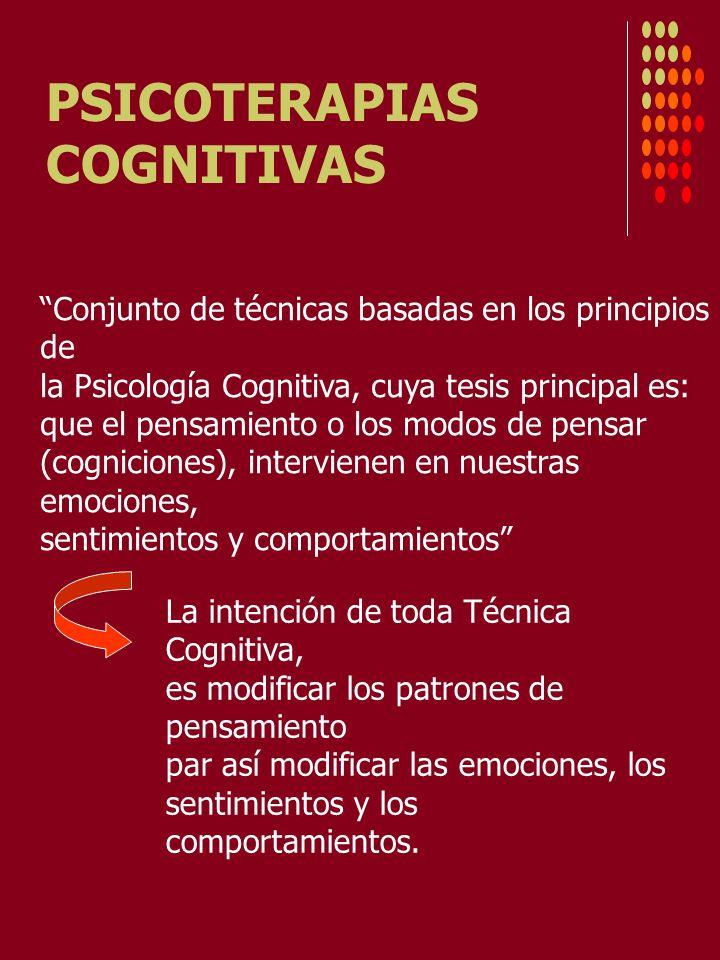 PSICOTERAPIAS COGNITIVAS