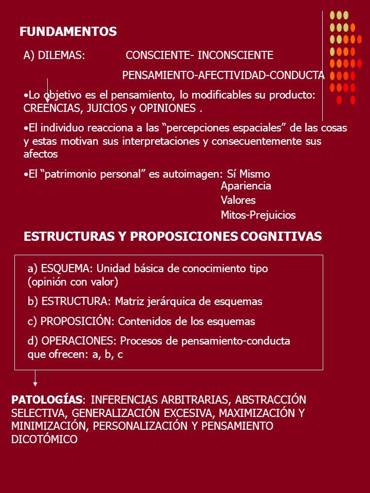 ESTRUCTURAS Y PROPOSICIONES COGNITIVAS