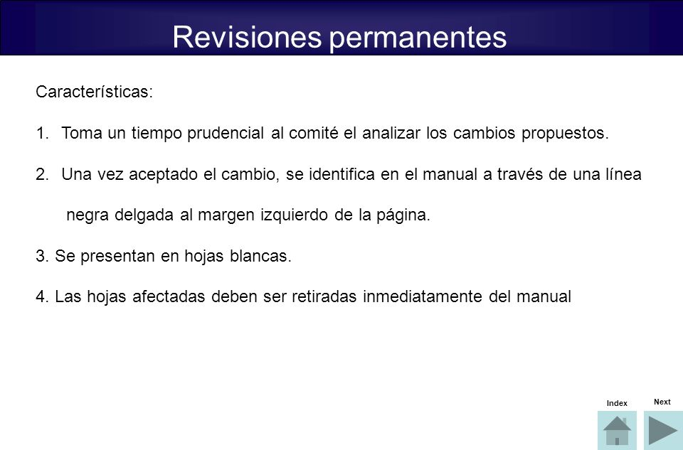 Revisiones permanentes