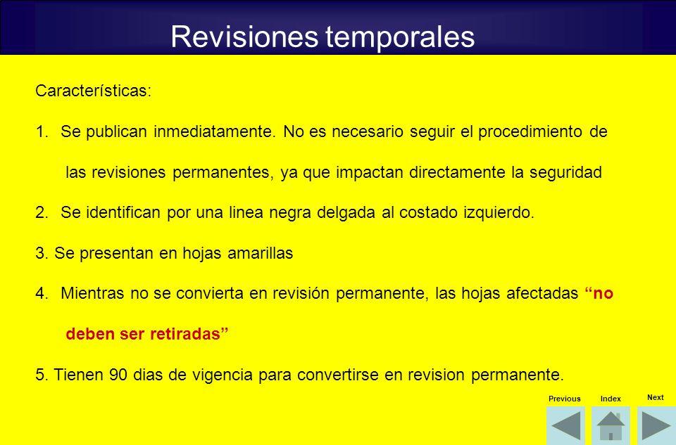 Revisiones temporales