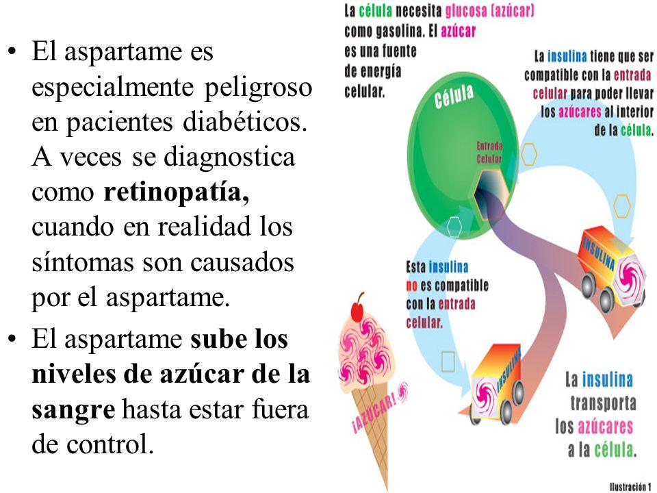 El aspartame es especialmente peligroso en pacientes diabéticos